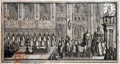 Descente de la châsse de sainte Geneviève par Abraham Bosse (1602 † 1646)