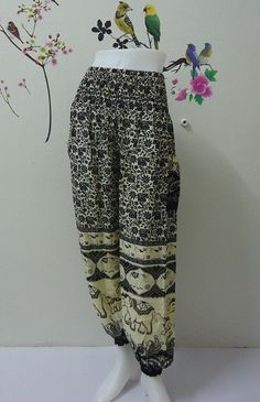 Black elephants genie harem pant really awesome Etsy listing at https://www.etsy.com/listing/199906567/black-elephants-harem-pant-woman-trouser