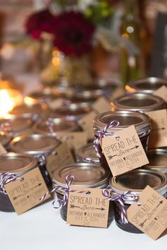 'Spread the Love' Jam Wedding Favors