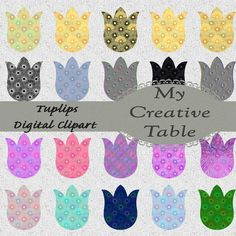 Tulips Digital Clip Art Kit Scrapbook DIY PNG by MyCreativeTable