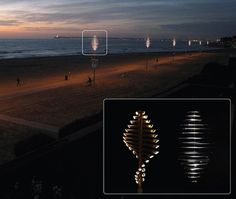 Flow bamboo lighting works on the principle of vertical wind turbine