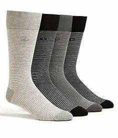 Calvin Klein Men's Fine Stripe Crew Dress Socks One Size, Red / Grey Large Dress Socks, Men's Socks, Man Child, Red And Grey, Textile Design, Tights, Leggings, Stockings, Socks
