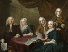The Music Party by William Hogarth  Date painted: 18th C