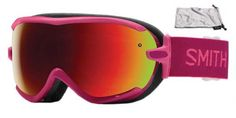 Smith Optics Virtue Women's Spherical Series Ski Snowmobile Goggles Eyewear - Impulse Red Sol X Mirror Small Find out more about the great product at the image link. Snowboard Goggles, Ski And Snowboard, Smith Optics, Red Mirror, Snowboarding Gear, Snowboards, Red Sole, Oakley Sunglasses