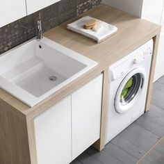 How much does a bathroom renovation cost? Laundry Bathroom Combo, Tiny Laundry Rooms, Laundry Room Cabinets, Laundry Room Organization, Laundry Room Design, Bathroom Design Small, Bathroom Layout, Bathroom Interior Design, Modern Bathroom