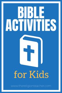 This collection of Bible activities for kids will help you lead your students into an encounter with Christ through the written Word of God. This post includes links to crafts, videos, skit scripts, Bible worksheets, and more. Bible Activities For Kids, Bible Study For Kids, Church Activities, Reading Activities, Catholic Religious Education, Catholic Kids, Religious Studies, Catholic Bible Readings, Learn The Bible