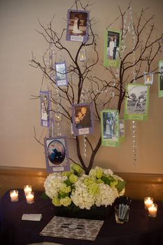 Family Tree: Generations of family. Wedding Pictures with names and years! So awesome! Reception Entrance, Wedding Entrance, Entrance Table, Reception Ideas, Spring Wedding Colors, Purple Wedding Flowers, Ruby Wedding, Trendy Wedding, Dream Wedding