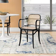Atticus Daybed & Reviews | AllModern Rattan Daybed, Wood Daybed, Wood Arm Chair, Bistro Chairs, Side Chairs, Solid Wood Dining Chairs, Wood Slats, All Modern, Atticus