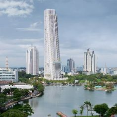 Colombo Residential Development by Moshe located in Colombo, Sri Lanka. Shops will occupy the ground floor of the 69-storey building, while apartments with balcony gardens will be located in the levels above.