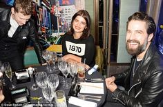 Head of the table: The two hosts were in good spirits as they flashed their pearly whites
