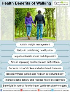 Health benefits of walking include good physical and mental health, protection…