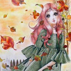 20作品目♡ 秋っぽいなぁと思って、秋カラー意識してみました( ´ ω ` )偶然の季節先取りw どことなく寂しい感じが表現できればイィなぁ、、、と。  ホントは背景水彩で塗りたかったんだけど、この紙 水に弱いから出来ず…(*・з・*) あと、高橋真琴の線画 影がついてるんだけど影の位置が好みじゃない← 好きに塗らせて笑  #大人の塗り絵 #おとなのぬりえ #おとなの塗り絵 #coloriage #coloringbook #水彩色鉛筆 #watercolorpencils #ファーバーカステル #fabercastell #ダイソーパステル #pastel #高橋真琴 #macototakahashi #秋