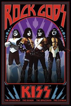 A great poster of the band KISS! Paul Stanley, Gene Simmons, Ace Frehley, and Peter Criss are Rock Gods! Check out the rest of our excellent selection of KISS posters! Need Poster Mounts. Vintage Rock, Vintage Kiss, Imagenes Pink Floyd, Banda Kiss, Groups Poster, Rock Band Posters, Vintage Concert Posters, Kiss Art, Band Wallpapers