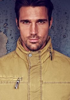 Goran Jurenec, model from Germany/Croatia, b. ~1979 - This gorgeous man is wearing colors from the wrong season - and it shows!