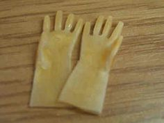 1/12th scale for your dollshouse. Rubber gloves