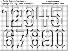 Numeral ponto cruz