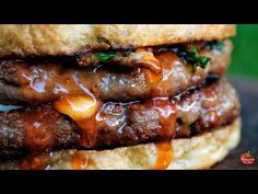 BEST DOUBLE CHEESEBURGER - FOREST BURGER - YouTube