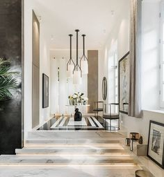 Our porcelain marble slabs used in Kelly Hoppen's new house. - CDS Tiles