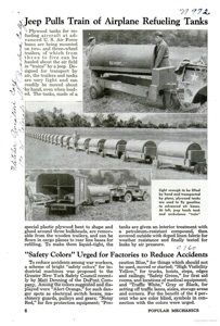 Sunday, October 28, 2012- War Era Jeep Innovations And Uses From The Pages Of Popular Mechanics