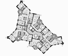 Practice for architecture and urbanism – Zurich Switzerland Concept Architecture, Residential Architecture, Architecture Design, Zurich, Plot Plan, Andrea Palladio, Curved Walls, Apartment Plans, Cool Apartments