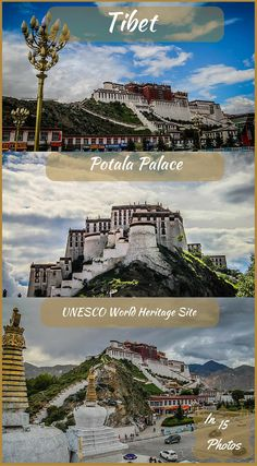 UNESCO World Heritage Site Potala Palace Tibet In 15 Photos. Visiting the Potala Palace is one of the highlights from our trip to Tibet. Any book you can get your hands on that includes Tibet will mention, if not feature, the Potala Palace in the capital city of Lhasa. Click to see the full adventure travel blog post at http://www.divergenttravelers.com/tibets-potala-palace-photos/