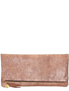 Clare V. Womens Foldover Clutch Size One Size - Rose gold by: Clare V. @Piperlime