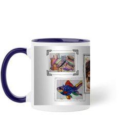 Pictures For Grandma Mug, Blue, 11 oz, White
