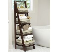 Benchwright Ladder Floor Storage #potterybarn