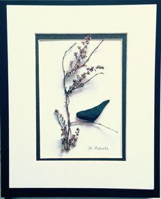 Blackbird Pebble Art