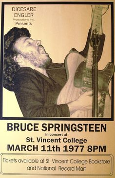 Bruce Springsteen at St. Vincent College March 11 by Innerwallz, $15.00