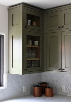 style/color DISC Interiors / Los Feliz Kitchen love this color but cant decide if for walls or cabinets?