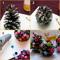 Here we have a lovely DIY Christmas project that presents how to make mini Christmas trees as original gifts or cute decorations. Mini Christmas Tree, Christmas Nail Art, Christmas Projects, Christmas Decorations, Pine Needle Crafts, Original Gifts, Diy And Crafts, Presents, Candles