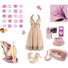 la vida en rosa #glamour #pink #new #chic #shabbychic #beautiful #dress #outfit