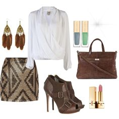 Pocahantas the Business Woman, created by vonjade on Polyvore
