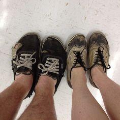 worn shoes - ones on left i l ike
