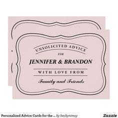 cute funny marriage advice for bride groom invitation wedding