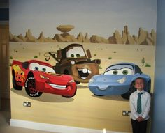Draw lightning mcqueen disney pixar cars lightning mcqueen and disney pixar - Disney pixar cars wall mural ...