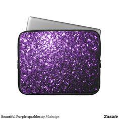 Beautiful Purple sparkles Laptop Computer Sleeve from Zazzle.com by #PLdesign #laptopsleeve #purplesparkles