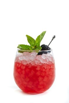 SALT Tequila Specialty Drink Blackberry Smash, with Berry SALT Tequila....
