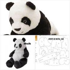 .peluche Animal Knitting Patterns, Plushie Patterns, Sewing Stuffed Animals, Stuffed Animal Patterns, Teddy Bear Sewing Pattern, Felt Crafts Patterns, Teddy Bear Clothes, Fabric Toys, Bear Doll