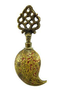 Decorative Hand Crafted Brass Eye Liner Powder Collyrium/ Surmadaani Box. G69-6