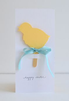 Easter Cards | Chick Shadow Puppet + Card | willowday