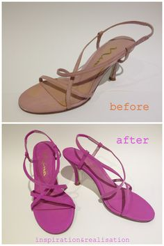 Paint shoes any color with deka lac