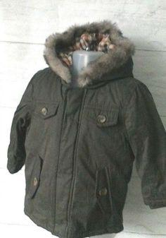 77d0c606fde60 Baby Boys Brown Parka Coat With Hood 9-12 Months New  Matalan  ParkaJacket