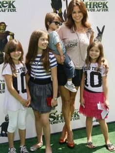 brooke burke and family....4kids..fit and healthy.