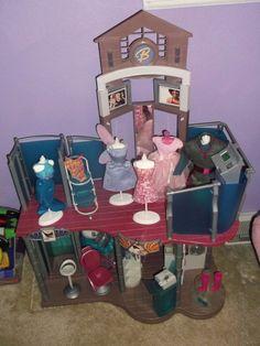USED...Nice Condition... Mattel Barbie Fashion Show Mall Play Set #mattel