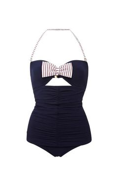 Mimi Ruched-Front Swimsuit by Ete Swim Now Available on Moda Operandi