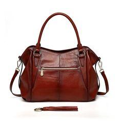 Adona Leather Handbag - Red Handbags - Vicenzo Leather