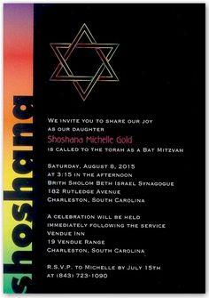 Spectrum Bar Mitzvah Invitation - $1.13 each when you purchase 100