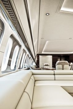 Fly Private Gentleman's Essentials – [pin_pinter_full_name] Fly Private Gentleman's Essentials Flying private….so clean and white! Luxury Jets, Luxury Private Jets, Private Plane, Luxury Yachts, Airplane Interior, Yacht Interior, Limousine Interior, Private Jet Interior, New Jet